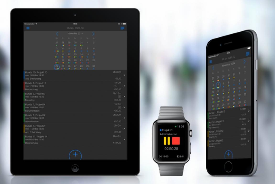Professionelle Zeiterfassung in Projekten – TimeTrack app